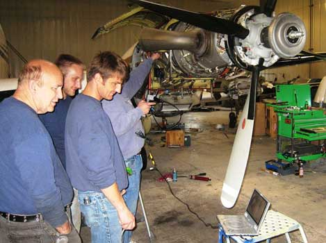 King Air- PT6 Inspection with a VJ-Advance Video Borescope