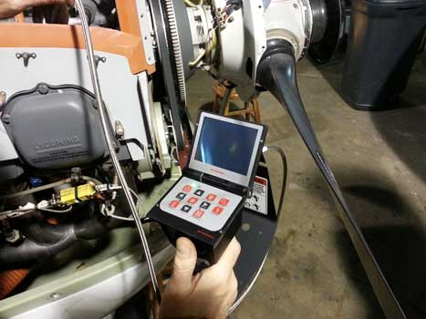 King Air- Lycoming 360 Inspection with a VJ-Advance Video Borescope