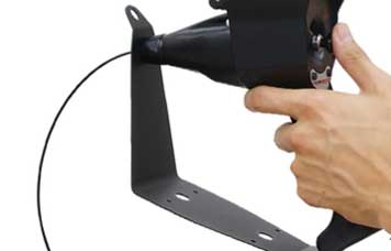 The VJ-ADV video borescope's detachable metal base, which helps to protect against dropping.