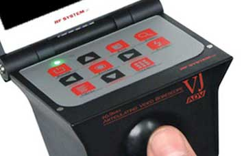 The VJ-ADV's control panel, which is easy to use.