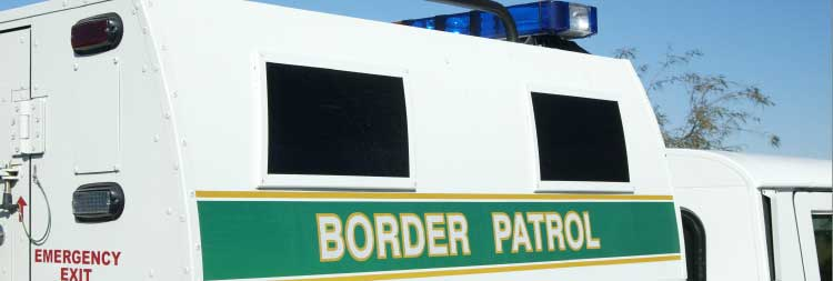 Image of a border control vehicle