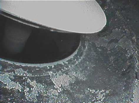 Intake valve clearance as seen through a VJ-Advance video borescope